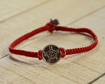 Safe Keeper 925 Sterling Silver Amulet on Handmade Macrame Bracelet - Durable for Men and Women
