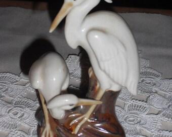 White Heron Figurine