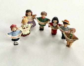 Hallmark Sharing the Joy Christmas Children Figurine Countries Around the World Set