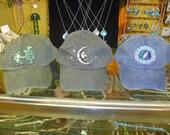 Grateful Dead Hats -  Jerry Moon Terrapin  Orange Sunshine SYF  Baseball Cap     hippie SYF   Deadhead