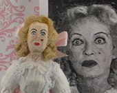 Bette Davis as Baby Jane-  Evil Sister- Creepy Movie- Fan Art- Miniature Handmade- Celebrity Doll