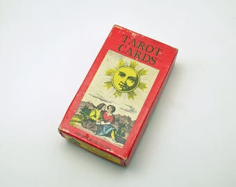 Vintage Tarot Cards Gaming Cards Made in Switzerland