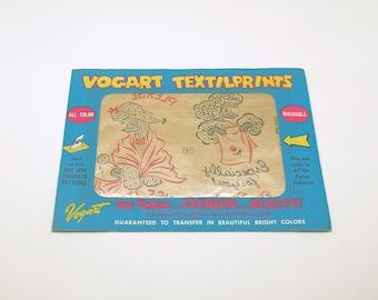 Vintage Vogart Textilprints Poodles Hot Iron Transfers Dish Towel Patterns