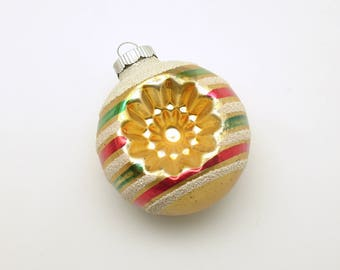 Vintage Christmas Glass Ornament Shiny Brite Indents