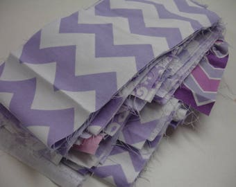The Lavender Mixed Geometrics Riley Blake Destash Fabric Bag