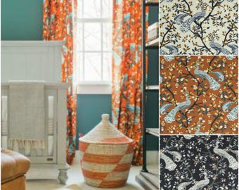 Dwell Studio Modern Aviary Plume Drapes - Lined (Pick the fabric and size)