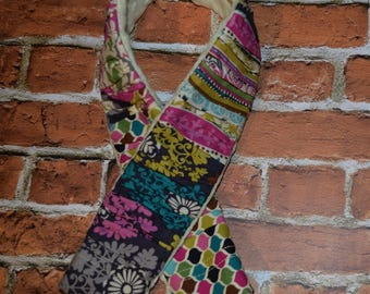 deluxe Plush  Camera Strap Cover with minky backing Grey / Fuschia / Blue / Pink / Green  Ruffled Patchwork