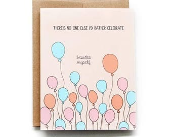 Birthday Card - Balloons