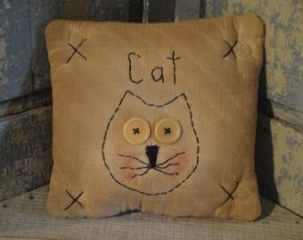 Small Old Quilt Cat Pillow