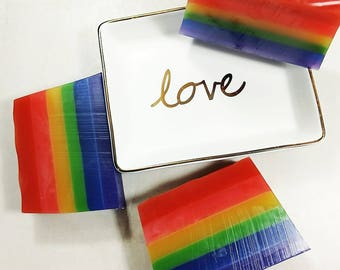 Gay Pride Soap. Pride. Rainbow. Love wins. Gay Pride Flag. Ocean Scent. LGBT Pride. Pride gifts. LGBTQ. Gay Marriage Wedding Favors.  NEW