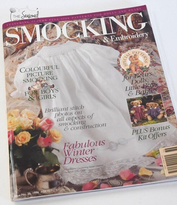 Australian Smocking & Embroidery Magazine - Issue No. 36 - Smocking Needlework Patterns - Needlework Tutorial - Smocking Tutorial