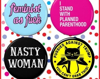 Feminist Button Pack - All proceeds will be donated to Planned Parenthood