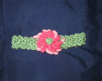Cute Hand Crocheted Flower Headband for Baby Girl Christmas Present Gift Stocking Stuffer Toddler Birthday