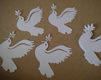 20 x peace dove olive branch,Dove gift tags,Dove tags labels, Dove place cards,wish tree tags,baby,wedding