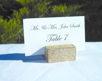 Place Card Holders + Champagne Gold Glitter Place Card Holders + Champagne Gold Glitter Wedding escort card holder (Set of 100)