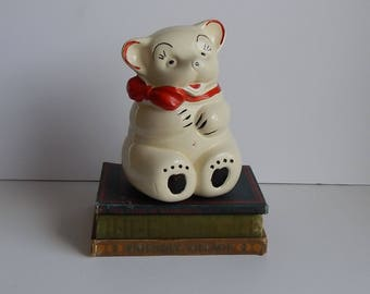 Vintage Ceramic Bear Money Bank