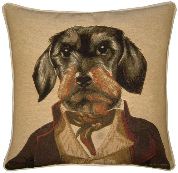 Thierry Poncelet Dacshund Tapestry Cushion Cover Sham