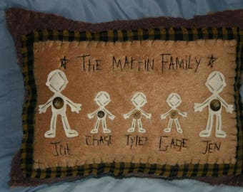Special order 'Family' Pillow (Bonnie)