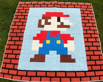 Mario Inspired Queen Sized Quilt