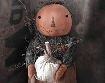 Hilda Primitive Pumpkin Doll Pattern Instant Download