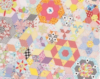 Smitten English Paper Piecing Pattern by Jen Kingwell with Sue Daley Templates and Papers