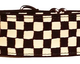 Checkered Flag Design- 2 Inch Martingale Collar-