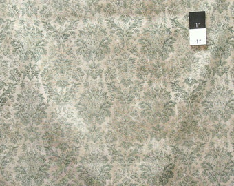 Tim Holtz PWTH029 Wallflower The Faded Damask Teal Cotton Fabric By Yard