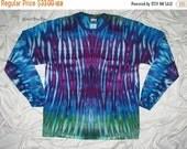20% off sale tie dye shirt, large long sleeve, ice dye, tie dye t shirt by GratefulDan, music festival, grateful dead tie dye t shirt