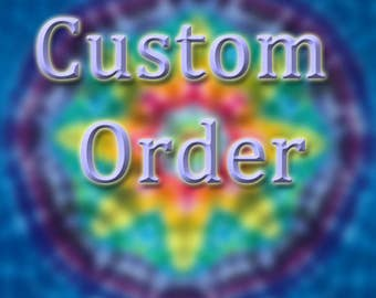 This is reserved for Delaney - Tie dye, 53 inches X 55 inches mandala tapestry, tye dye by grateful dan dyes, hand dyed hemmed tapestry