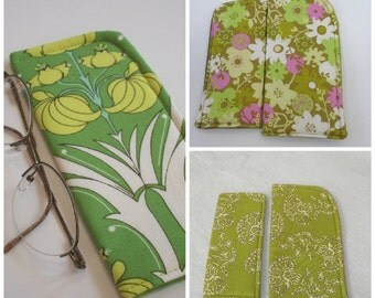 Greenery Floral Case for Eyeglasses or Sunglasses Choose your size and print