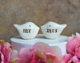 Wedding cake topper birds bird cake topper love birds wedding birds rustic cake topper wedding cake birds wedding mr mrs bride and groom