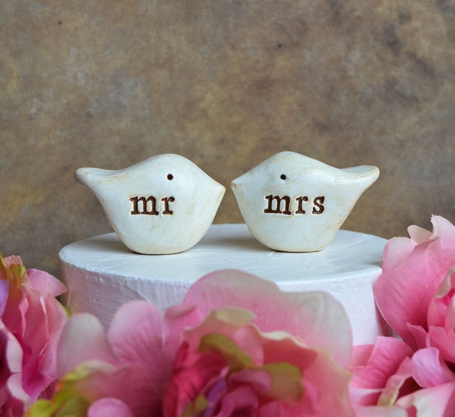 Wedding cake topper birds bird cake topper love birds wedding
