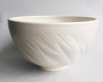 Textured Serving Bowl in White