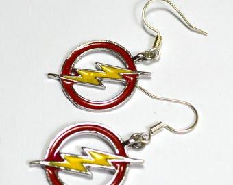 The Flash Logo Silver Nickel Free Geeky Dangle Earrings