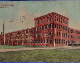 Metric Metal Works Erie Pennsylvania Antique Postcard 1913