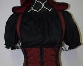 Gothic Hooded Under Bust Corset Detachable Hood McKenzie Vampire Corset