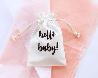Borsa bambino doccia dono, bambino doccia, nuovo bambino, regalo del bambino, sacchetto di cotone, sacchetto di cotone stampato, sacchetto regalo stampate, sacchetti regalo, annuncio del bambino