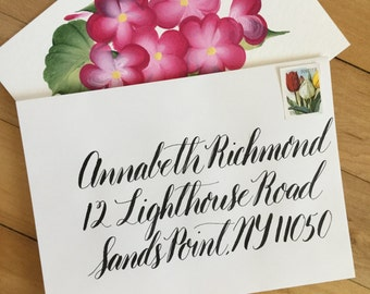 Calligraphy Envelope, Custom Calligraphy, Calligraphy Address, Greeting Card, Handwritten, Modern Calligraphy, Lettering, Invitation