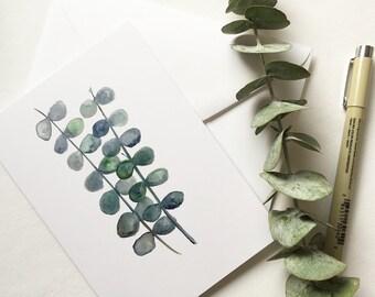 Eucalyptus - Greeting Card - Botanical, Note