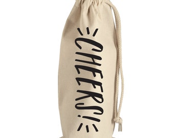 Wine Bag 'Cheers' - Wine Tote - Hostess Gift