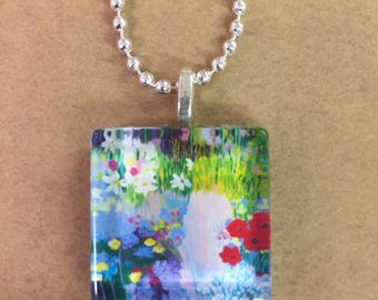 Field of Dreams Glass Pendant with Chain