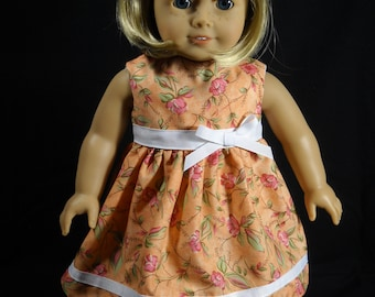 Blue with Butterflys Print 18 inch Doll Dress Handmade