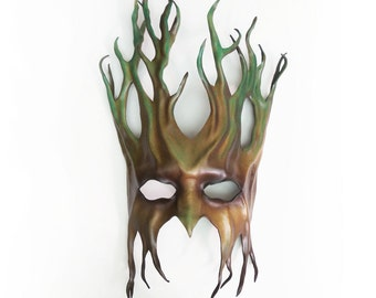 Tree Leather Mask  greenman forest green man Ent Groot Treebeard
