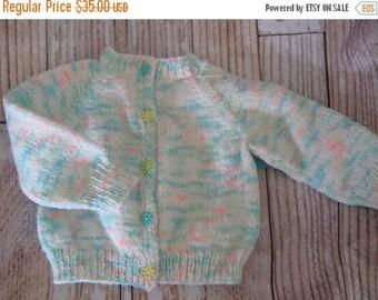 FLASH SALE handknit baby sweater - 0 - 6 months