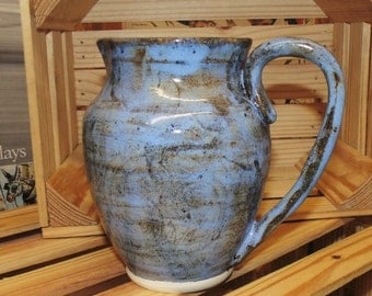 Black and Blue pitcher, large