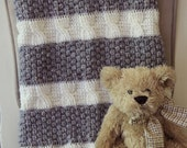 Download Now - CROCHET PATTERN Cabled and Gray Blanket - Make to Any Size - Pattern PDF