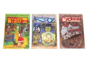 1990s Wizard of Oz books / 90s children's books / Wizard of Oz Pop Up Storybook Set of Three Books