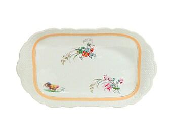 Haviland Limoges Serving Platter   Vintage Porcelain Tray   Antique Fine Dining Server