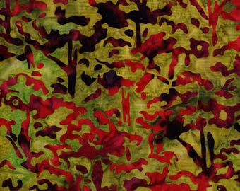 RJR Blossom Batiks 3098 2 Green Red Asian Designs By The Yard