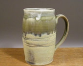 Large Handmade, 28 oz, Tankard Style, Pottery Mug , Stein,  Coffee , Beer or Tea